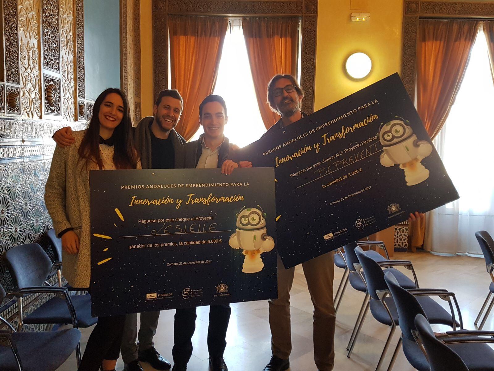 Los proyectos Lesielle y BePrevent, ganan los Premios Andaluces de Emprendimiento de Fundecor